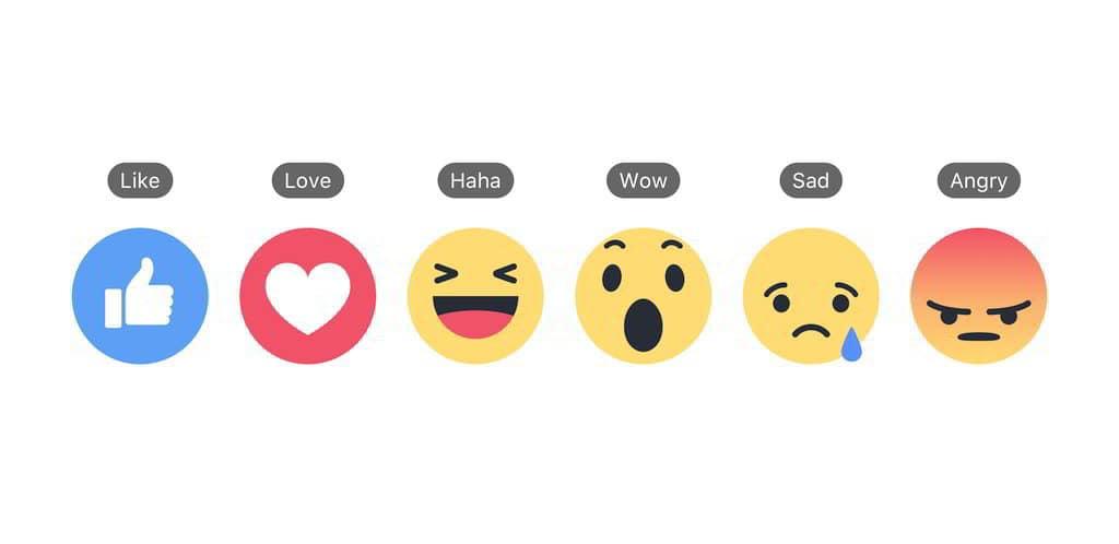 Le Reazioni di Facebook